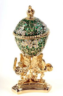 Faberge Egg Trinket Box by Keren Kopal Swarovski Crystal Jewelry Box