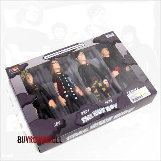 Fall Out Boy 4 Figures Doll Box Set Poster Beatles Sgt Pepper Inspired