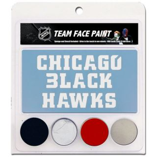 click an image to enlarge chicago blackhawks face paint with stencils