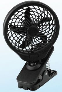 features of o2 cool 5 inch battery operated clip fan 5 inch