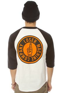 Loser Machine The SuiCircle Raglan in White Black
