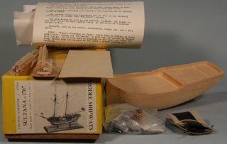Vintage MODEL SHIPWAYS COLONIAL SCHOONER SULTANA 1767 Kit nr