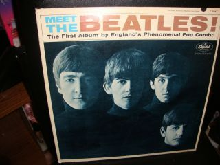 MEET THE BEATLES FIRST ALBUM T2047 WITH 3 ON BACK OF COVER 1964