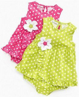 First Impressions Baby Dress Baby Girls Polka Dot Sundress 0 3 Months