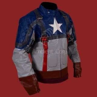 First Avenger Captain America Genuine Leather Jacket Chris Evans