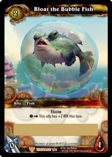 Bloat the Bubble Fish Pet WoW Warcraft Unscratched Loot Card