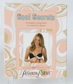 Cool Secrets Fashion Forms Under Breast Cooling Pads 2 Sets NIB