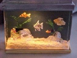 Filled Large Tropical Fish Tank Mini Aquarium for Doll House