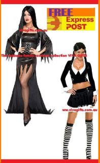 Womens Addams Family Morticia or Wednesday Costumes Express Post