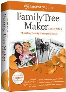 Family Tree Maker Essentials 2012 PC Genealogy PC Software New in Box