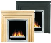 Napoleon EF30 Electric Fireplace Flush Wall Mount w Heater and Remote