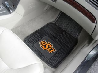 Oklahoma State Cowboys 2 PC Vinyl Car Front Floor Mats
