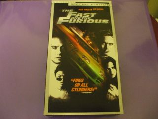 The Fast and The Furious 2000 PG 13 VHS Special Edition Paul Walker