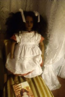 Annette Himstedt doll Fatou.Orig. papers,cert,box.Shes fine.
