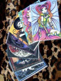 Solar Sun Goddess Fire Angel Fairy Art OOAK ACEO Solara