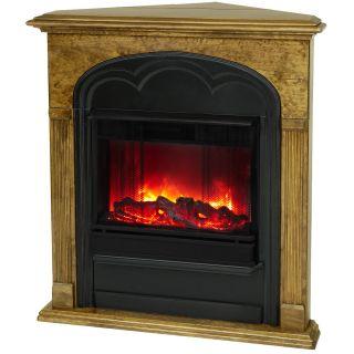 Real Flame Rachel Corner Portable GEL Fireplace Heater OAK Free