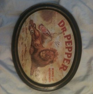 Antique Dr Pepper Serving Tray