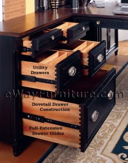American Federal Executive Quality Fine Modular Home Office Wall Desk