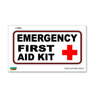 Emergency First Aid Kit Business Store Sign Window Wall Sticker