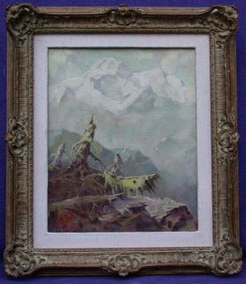 Eustace Paul Ziegler 1881 1969 Listed American Landscape Oil on Board
