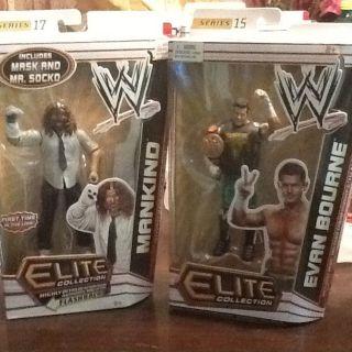 WWE WWF WCW ELITE FLASHBACK LOT X2 Evan Bourne mankind mick foley