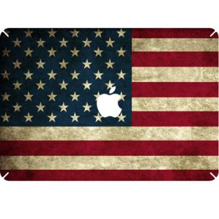 US Flag Decal Skin Sticker for Macbook White Pro Air 13 13.3 w/ Apple