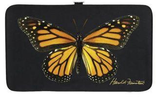 New Harold Feinstein Monarch Orange Yellow Butterfly Flat Wallet Opera