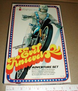 Evel Knievel Vintage Official 1974 Toy Adventure Motorcycle Set NEW