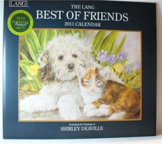 Great 2011 Lang Best of Friends 13 1/4 x 12 Wall Calendar. Features