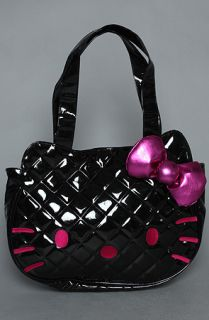 Loungefly The Hello Kitty Quilted Tote Bag in Black Patent  Karmaloop