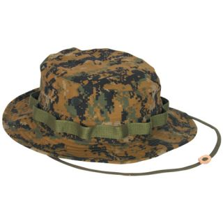 Camouflage Bush Boonie Hat Vietnam Era Hot Weather Fishing Hat