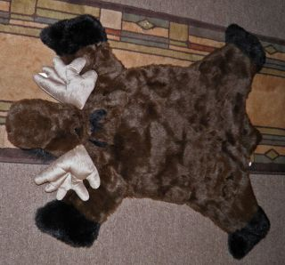 Moose Faux Toddler Rug Plush Stuffed Animal Toy LooK So Cute Soft