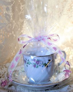 Victorian Rose Teacup Tea Cup Candle Tea Party Favors