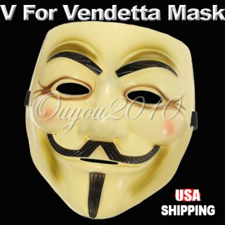 Movie Halloween Cosplay Mask Prop Costume Guy Fawkes US