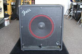 Fender Bassman 115 Bass Cabinet w Vintage Cerwin Vega 15 Sub