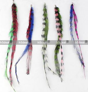 Long Synthetic Hair Extension Feather Kit Multi Color Z