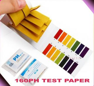 160 Full Range pH 1 14 Test Paper Indicator Litmus Strips Tester Urine