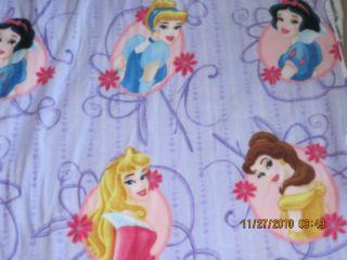 Disney Princess Belle Cinderella Fleece Fabric New
