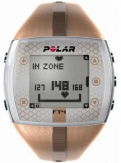 Womens Polar Heart Rate Monitor Fitness Watch FT4 Bronze