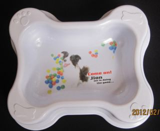 Plastic Dog Pet Cat Food Water Quadrate Bowls Feeding Dishes