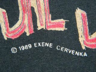 Vtg Exene Cervenka 1989 T Shirt x The Band Punk John Doe Old Wives
