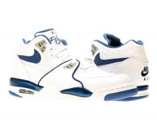 Nike Air Flight 89 White Dark Royal Mens Basketball Shoes 306252 100