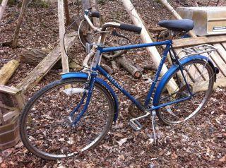 Raleigh Mens Bicycle 5 Speed Lenton Circa 1972 Blue Fenders Shimano