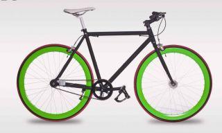 Fixie Fixed Gear Flip Flop Hub Alloy Bike Bicycle 54cm Matt Black w