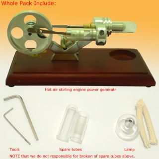 New Hot Air Stirling Engine Electricity Power Generator Funny Toy with
