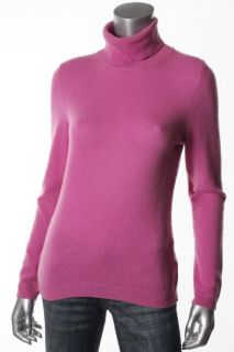 Private Label New Pink Cashmere Ribbed Long Sleeve Turtleneck Sweater