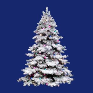 pre lit artificial christmas tree from the flocked alaskan