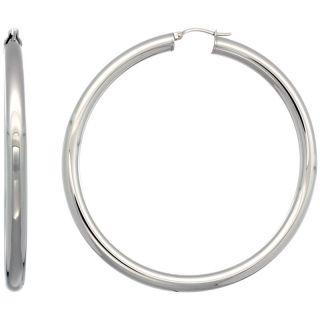 Stainless Steel 5x70mm Tube Snap down Extra Large Hoop Earrings