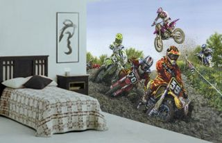 Motocross Extreme Sport Wall Mural 10 5Wide by 8High