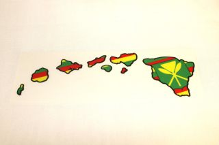 Kanaka Maoli Flag Hawaiian Island Map Hawaii Decal Car Truck Window